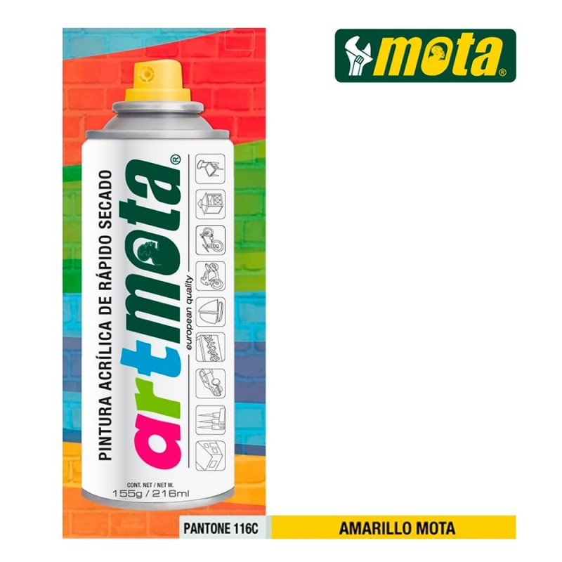 SPRAY AMARILLO MOTA PANTONE...